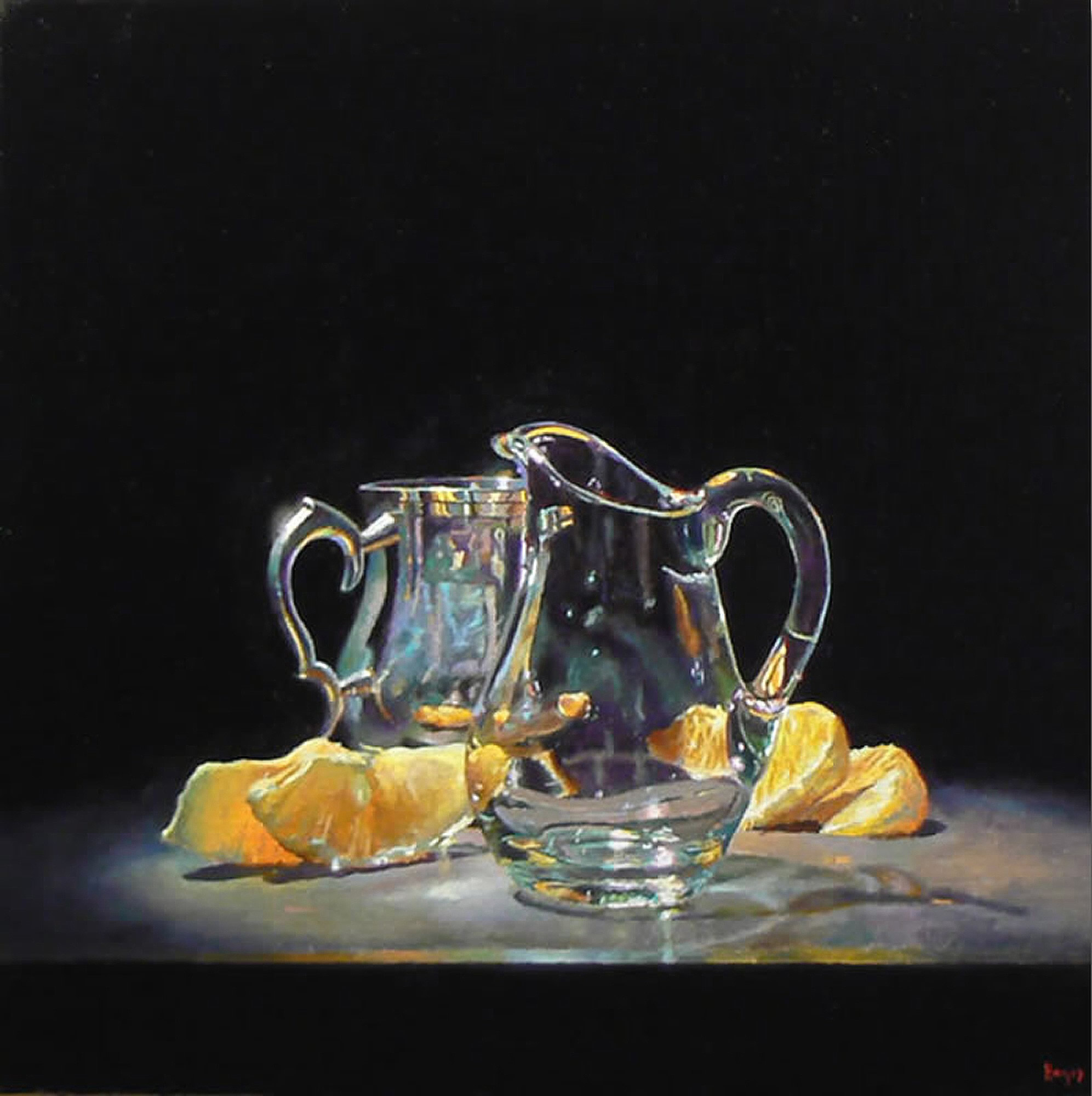 Silver, Glass, and Oranges