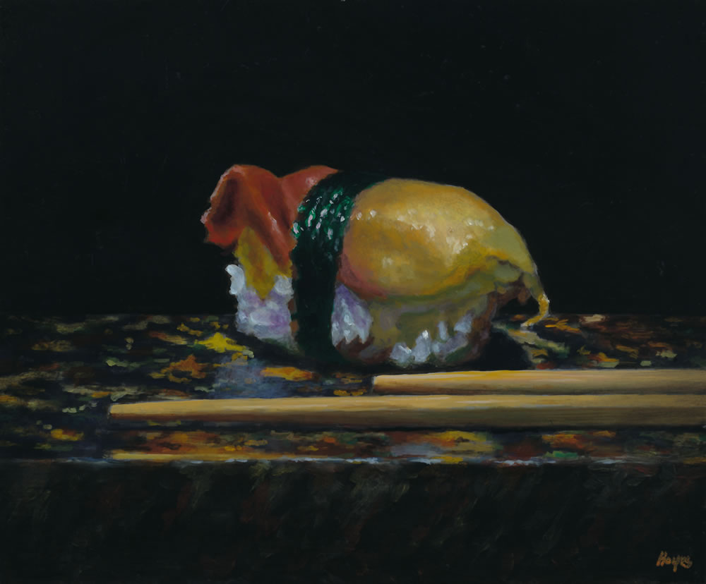 """Sushi No. 19"", Oil painting"