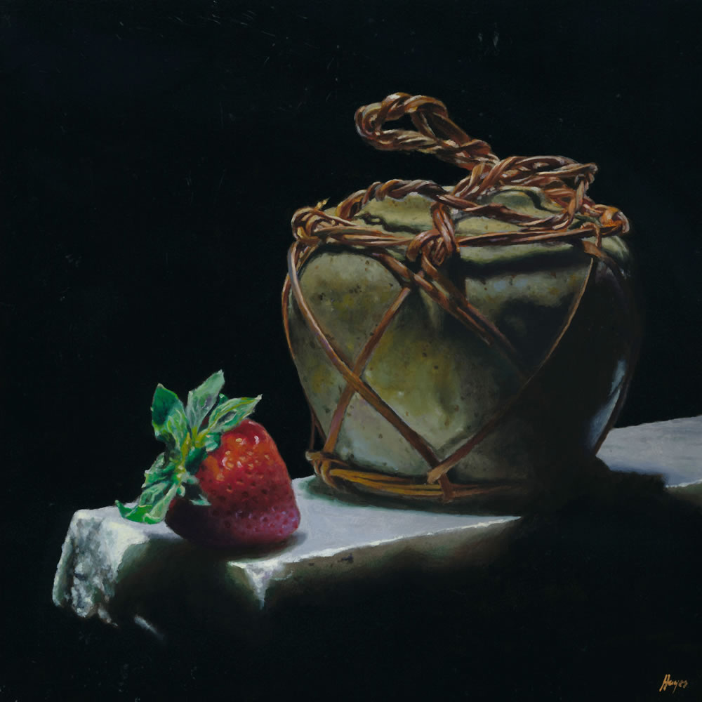 Chinese Ginger Jar with Strawberry