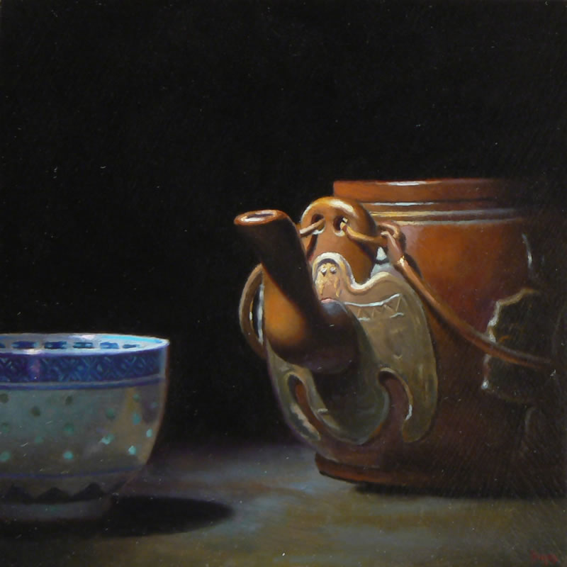 Jeffrey Hayes: Oil painting: Chinese Tea No. 2