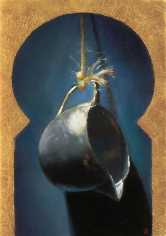 Jeffrey Hayes: Oil painting: suspended creamer