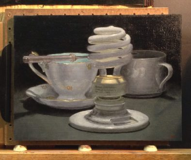 Jeffrey Hayes: Still Life; Oil Painting; Light Bulbs
