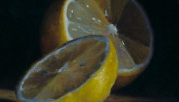 Jeffrey Hayes: Still Life; Oil Painting; Sliced Lemon
