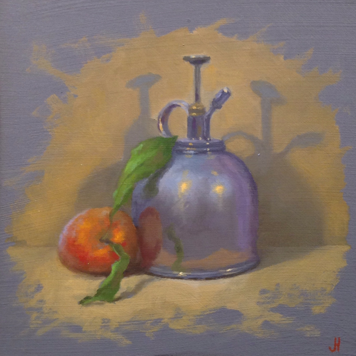 Jeffrey Hayes: Still Life Painting: Oil Painting: Mister and Peach