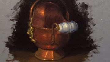 Jeffrey Hayes: Still Life Painting: Oil Painting: Copper Creamer