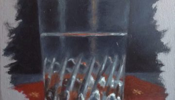 Jeffrey Hayes: Still Life Painting; Oil Painting; Water Glass