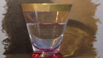 Jeffrey Hayes: Still Life Painting: Oil Painting: Water Glass II
