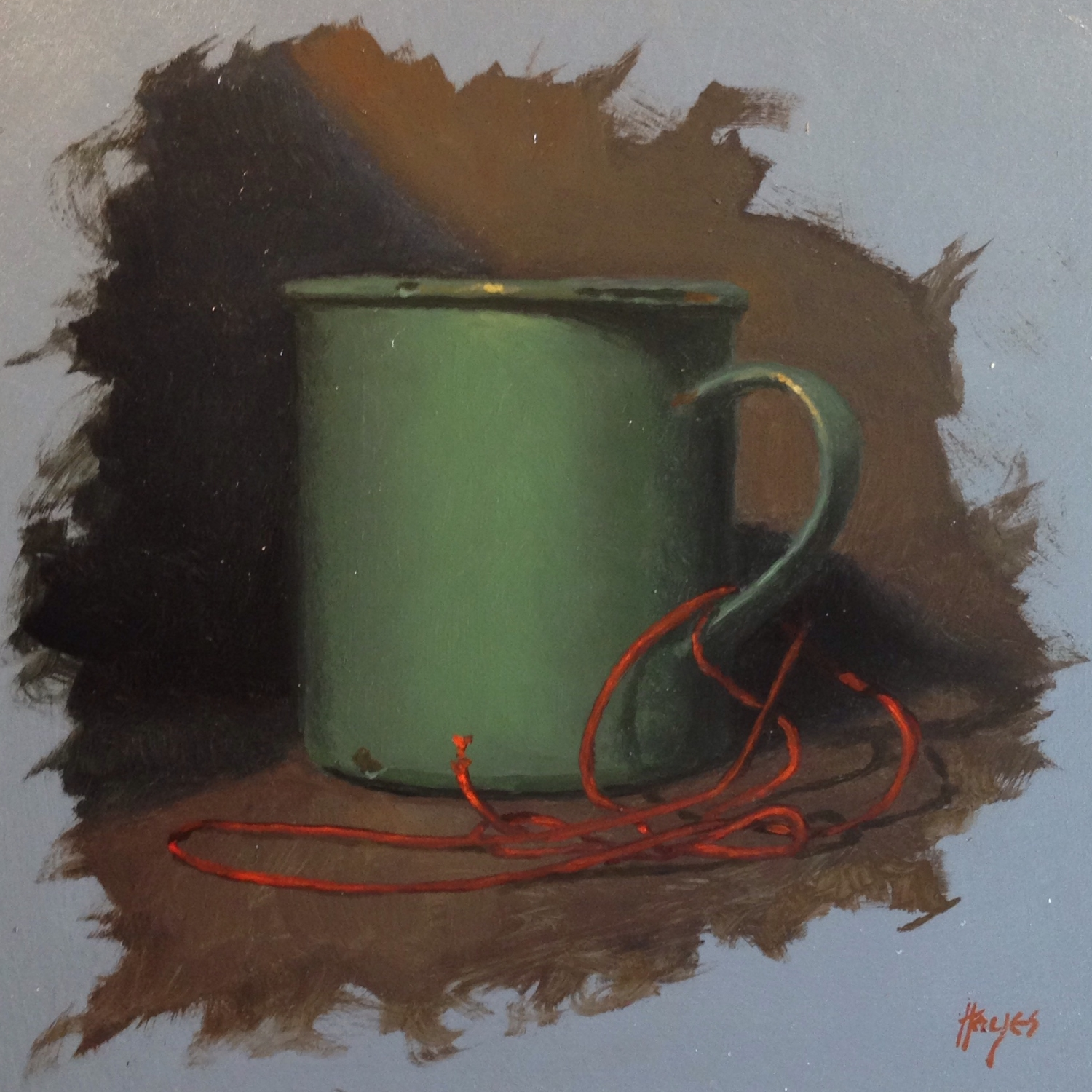 Jeffrey Hayes: Still Life Painting: Oil Painting: Cup and String