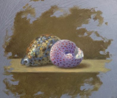 Jeffrey Hayes: Still Life Painting: Oil Painting: Two Shells