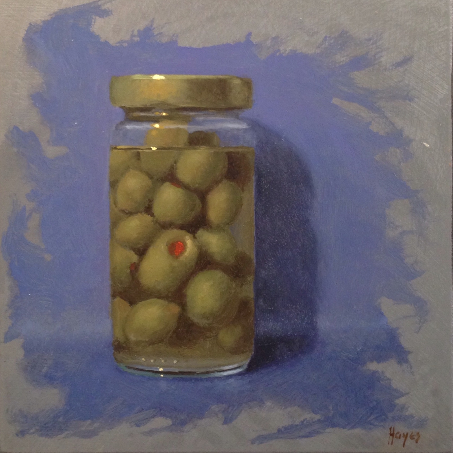 Jeffrey Hayes: Still Life Painting: Oil Painting: Olive Jar