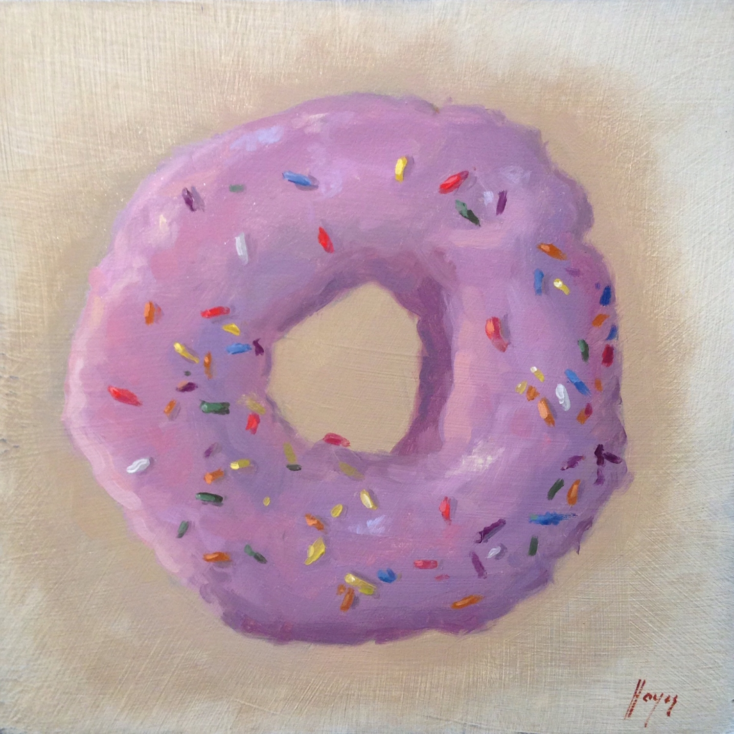 Jeffrey Hayes: Still Life Painting: Oil Painting: Strawberry Frosted