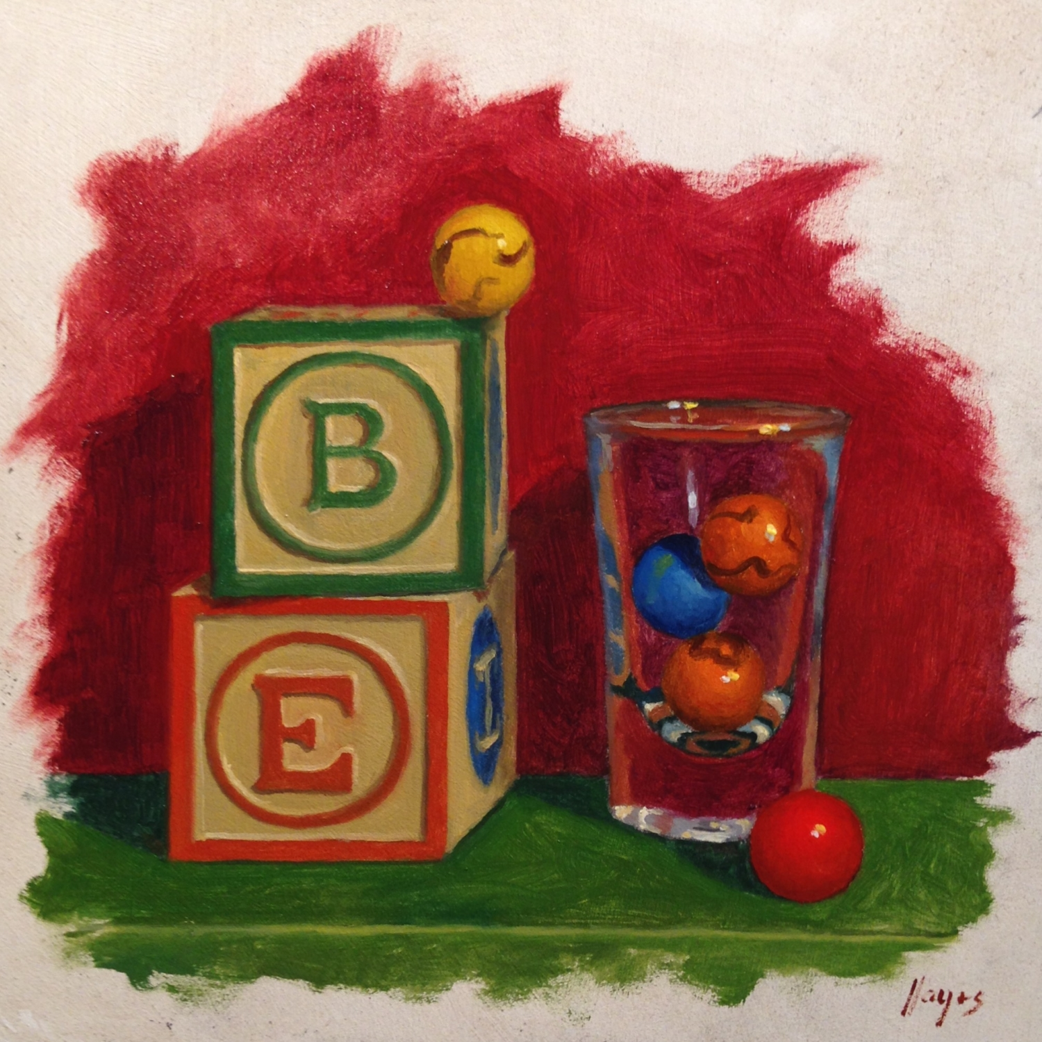 Jeffrey Hayes: Still Life Painting: Oil Painting: Leap of Faith