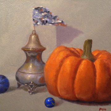 Jeffrey Hayes: Still Life Painting: Oil Painting: Fairy Tale: The Pumpkin and the Castle