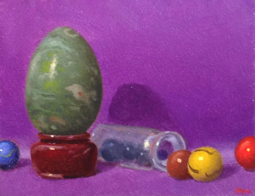 Jeffrey Hayes: Still Life Painting: Oil Painting: Fairy Tale: Hiding from the Ogre