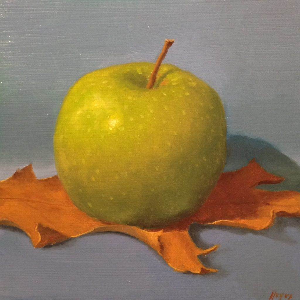 Jeffrey Hayes: Still Life Painting: Oil Painting: Fairy Tale: The Apple and the Flying Carpet