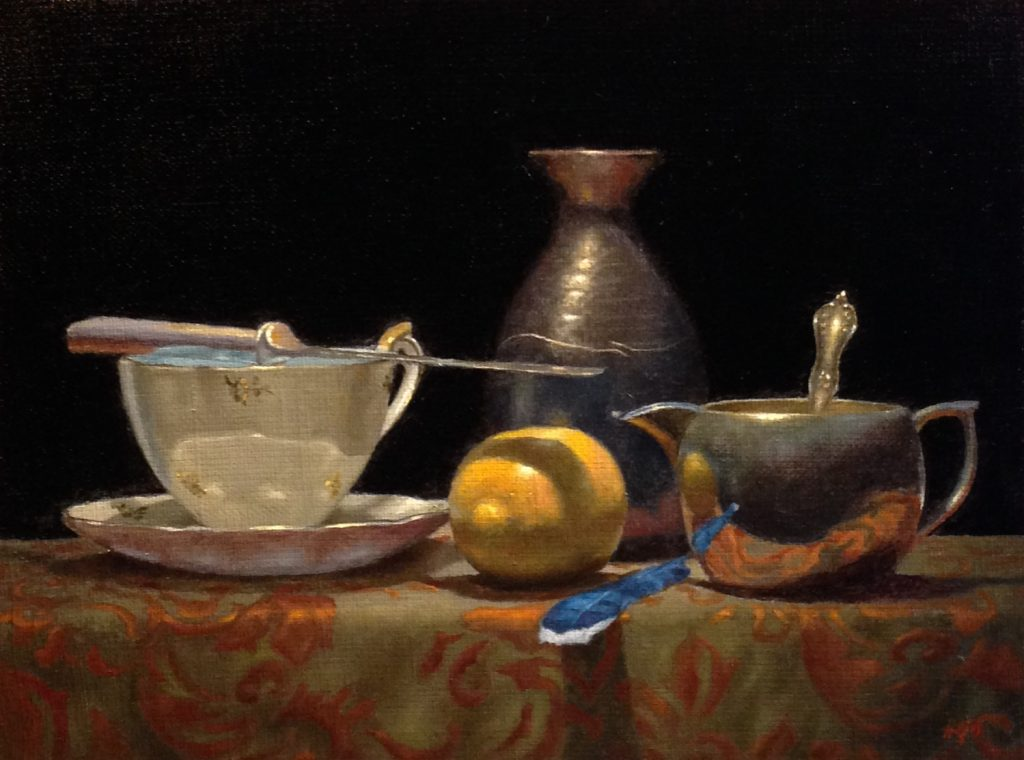Jeffrey Hayes: Still Life Painting: Oil Painting: Still Reflections and Quiet Signs