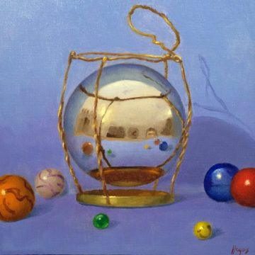 Jeffrey Hayes: Still Life Painting: Oil Painting: Fairy Tale: How the Villagers Captured the Giant