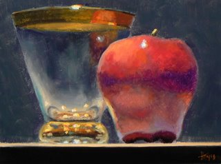 gold_rimmed_glass_and_apple
