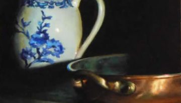 Jeffrey Hayes: Still Life Painting; Oil Painting; Porcelain and Copper