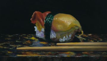"""Sushi No. 19""; oil painting"