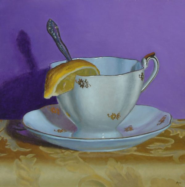 """Golden Teacup No. 2"", oil, 10x10, $1650"