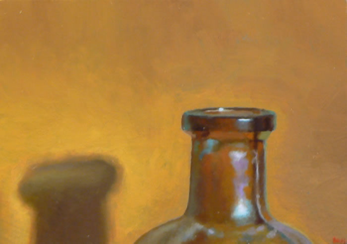 Oil painting: Bottleneck No. 3