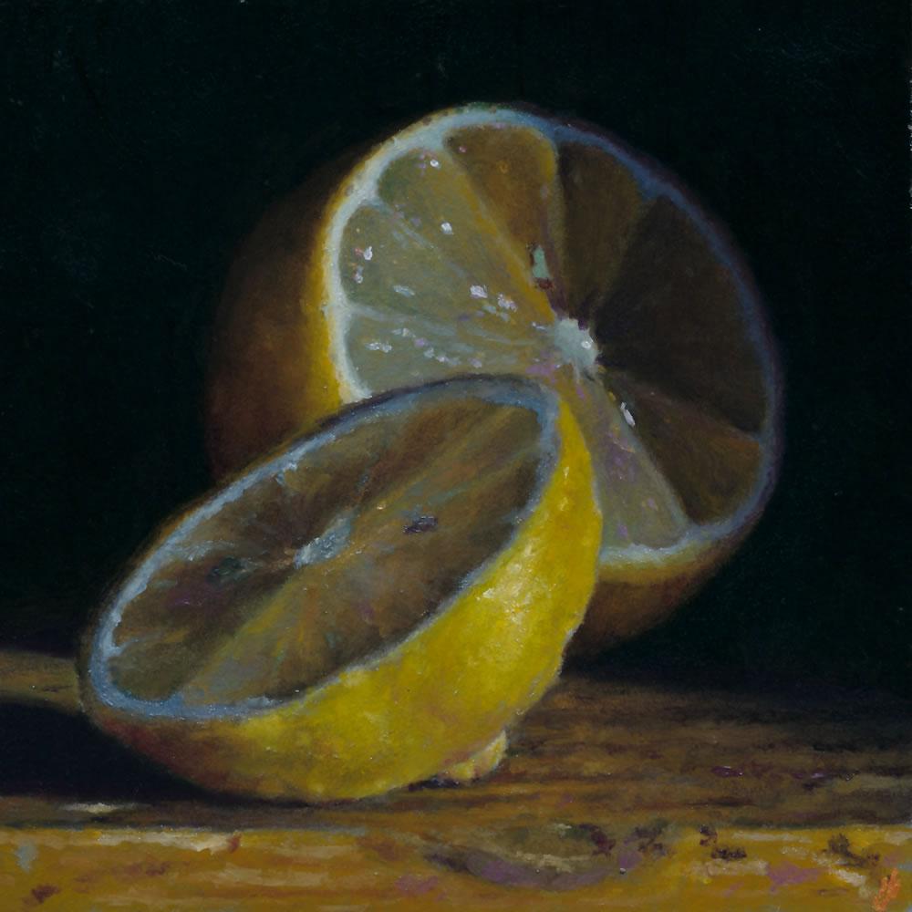 Jeffrey Hayes: Still Life; Oil Painting; Sliced Lemon