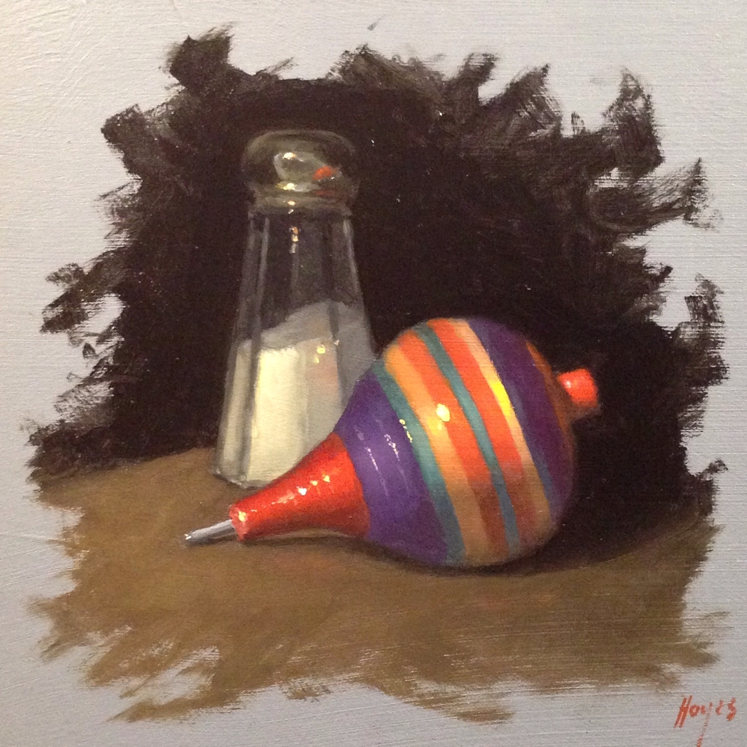 Jeffrey Hayes: Still Life Painting: Oil Painting: Top and Shaker