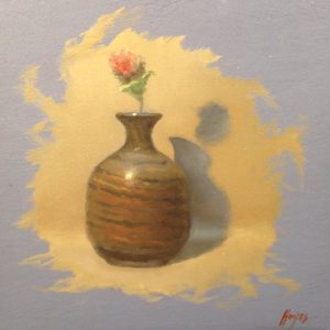 Jeffrey Hayes: Still Life Painting: Oil Painting: Vase and Straw Flower