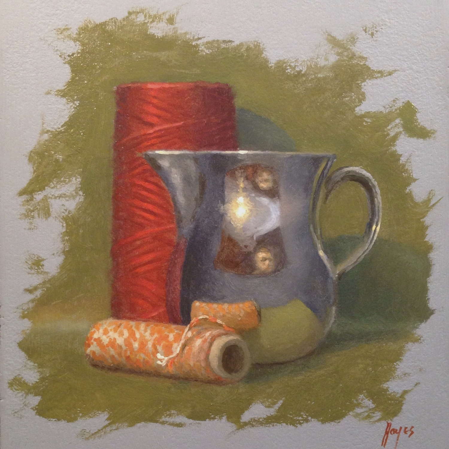 Jeffrey Hayes: Still Life Paintings: Oil Paintings: Silver and Twine