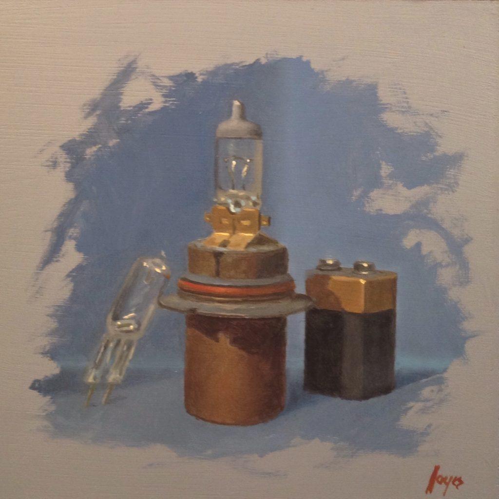 Jeffrey Hayes: Still Life Painting: Oil Painting: Three Random
