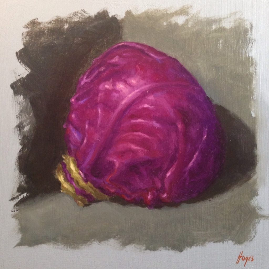 Jeffrey Hayes: Still Life Painting: Oil Painting: Red Cabbage