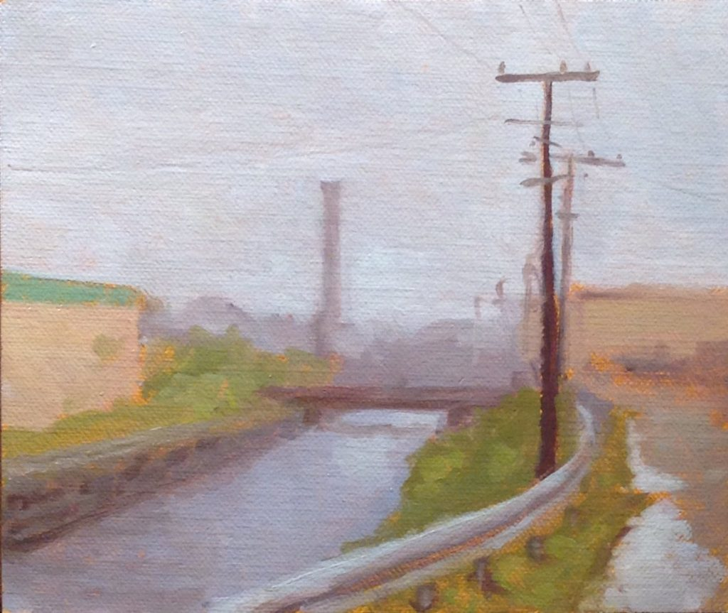 Jeffrey Hayes: Landscape Paintings: Oil Paintings: Raining