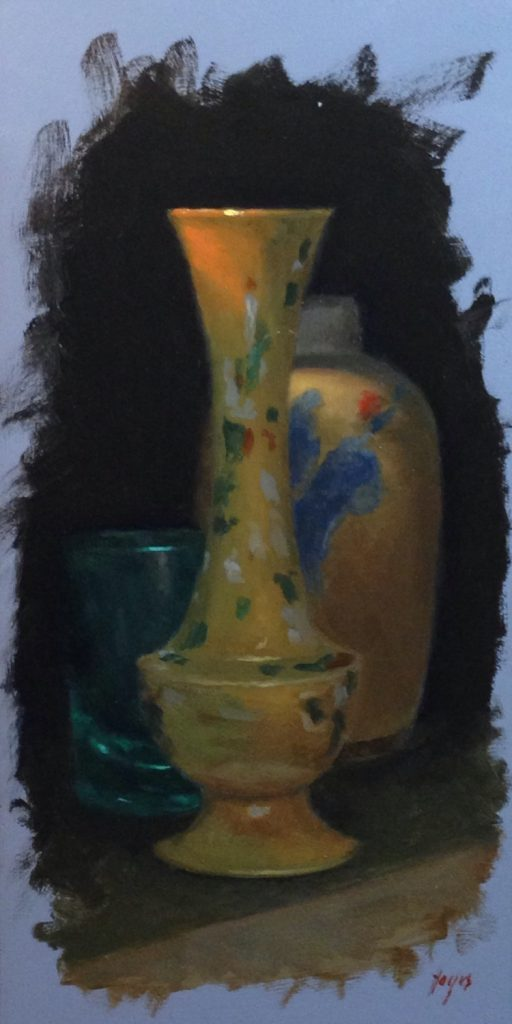 Jeffrey Hayes: Still Life Paintings: Oil Paintings: Three in Shadow