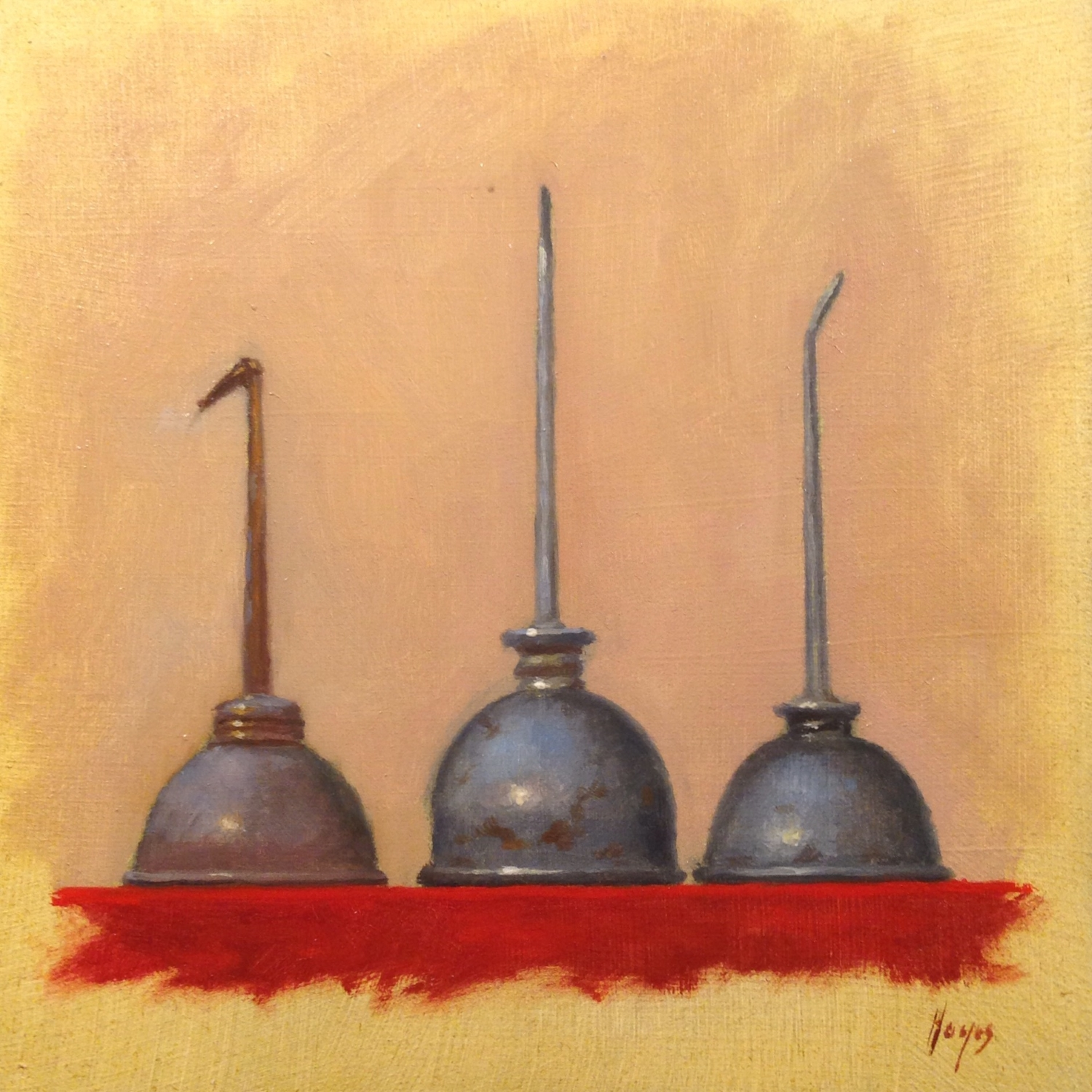 Jeffrey Hayes: Still Life Paintings: Oil Paintings: THree Oil Cans