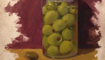 Jeffrey Hayes: Still Life Painting: Oil Painting: Olives and Stones