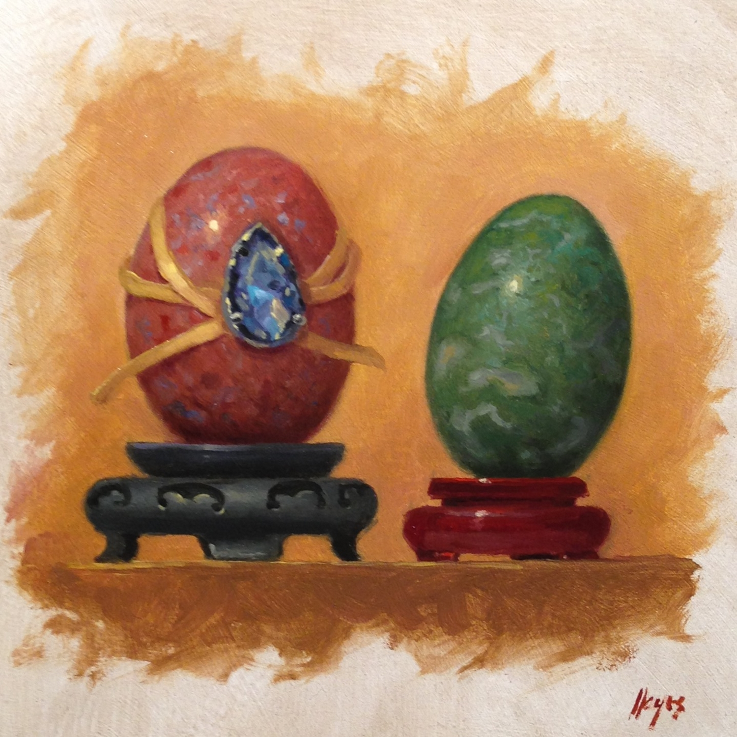 Jeffrey Hayes: Still Life Painting: Oil Painting: Seven Deadly Sins - Envy