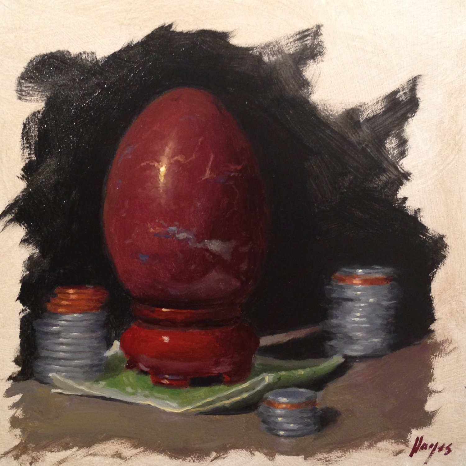 Jeffrey Hayes: Still Life Painting: Oil Painting: Seven Deadly Sins - Greed