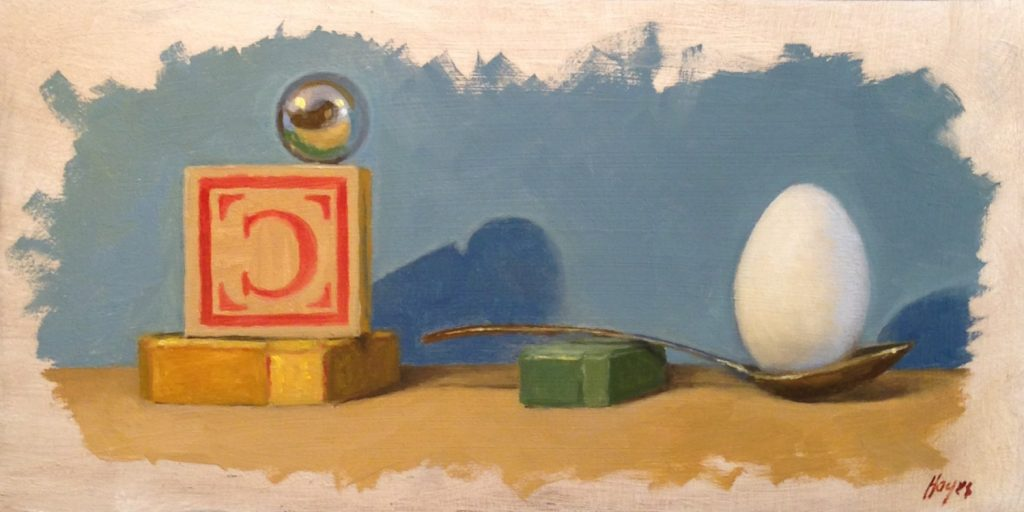 Jeffrey Hayes: Oil Painting: Still Life Painting: Bold Plan