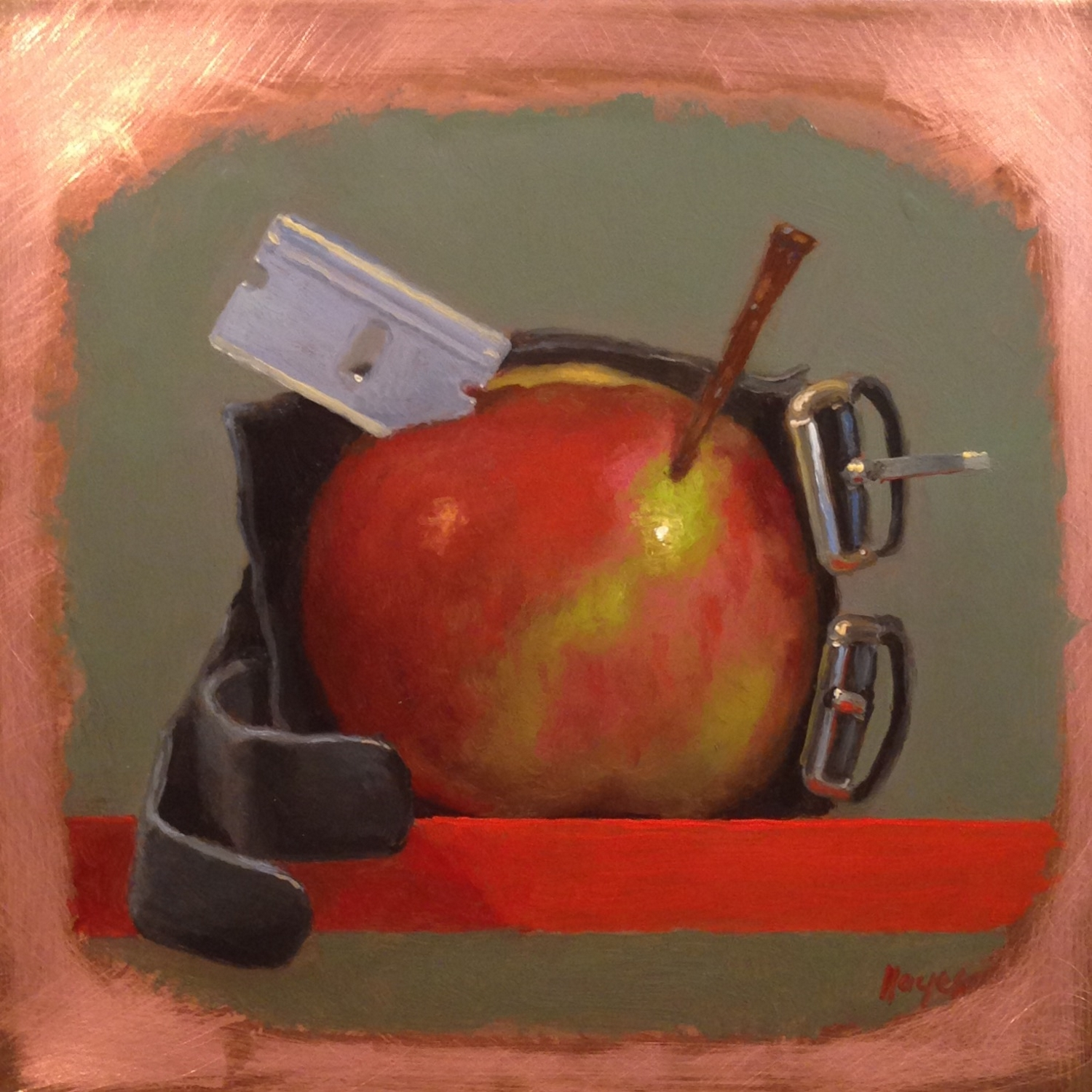 Jeffrey Hayes: Still Life Paintings: Oil Painting: Bad Apple