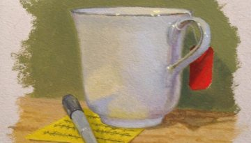 Jeffrey Hayes: Still Life Painting: Oil Painting: Tea Break