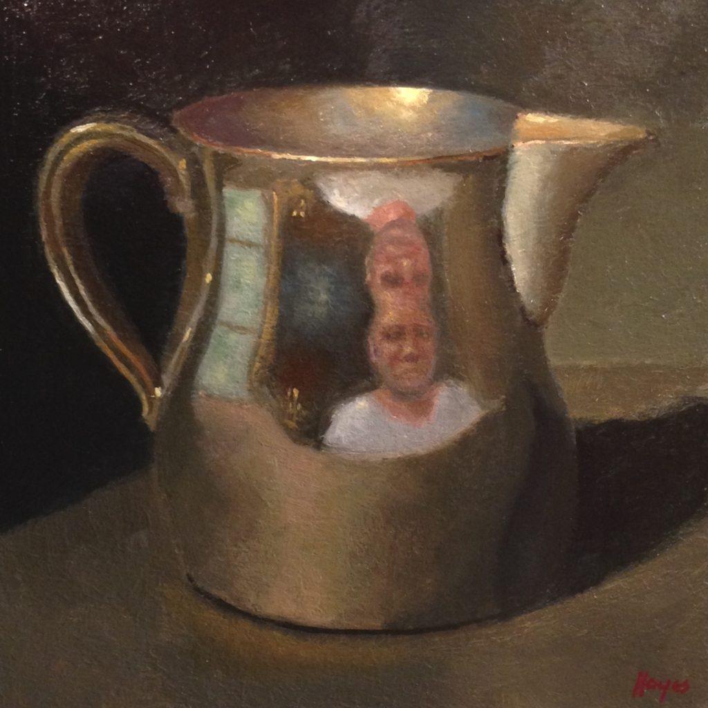 Jeffrey Hayes: Still Life Paintings: Oil Paintings: Funhouse Mirror Selfie