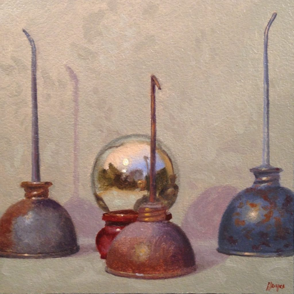 Jeffrey Hayes: Still Life Painting: Oil Painting: Fairy Tale: Guardians of the Magic Mirror
