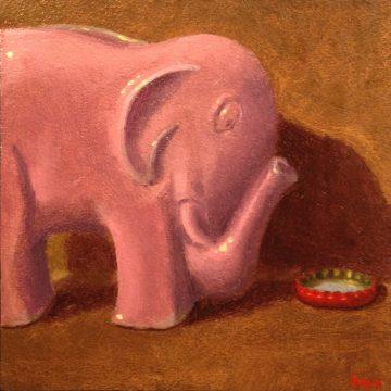 Jeffrey Hayes: Still Life Paintings: Oil Painting: Fairy Tale: The Elephant's New Bathtub