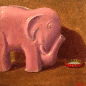 Jeffrey Hayes: Still Life Paintings: Oil Painting: Fairy Tale: The Elephant's New Bathtub