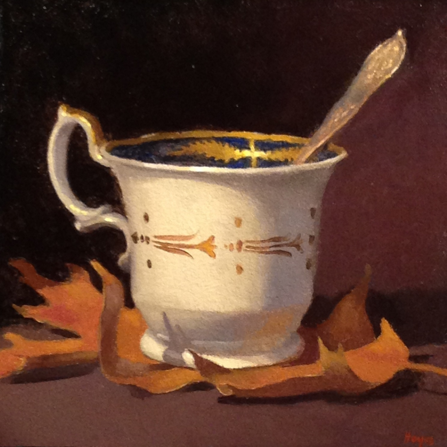 Jeffrey Hayes: Still Life Painting: Oil Painting: Tea-Leaf
