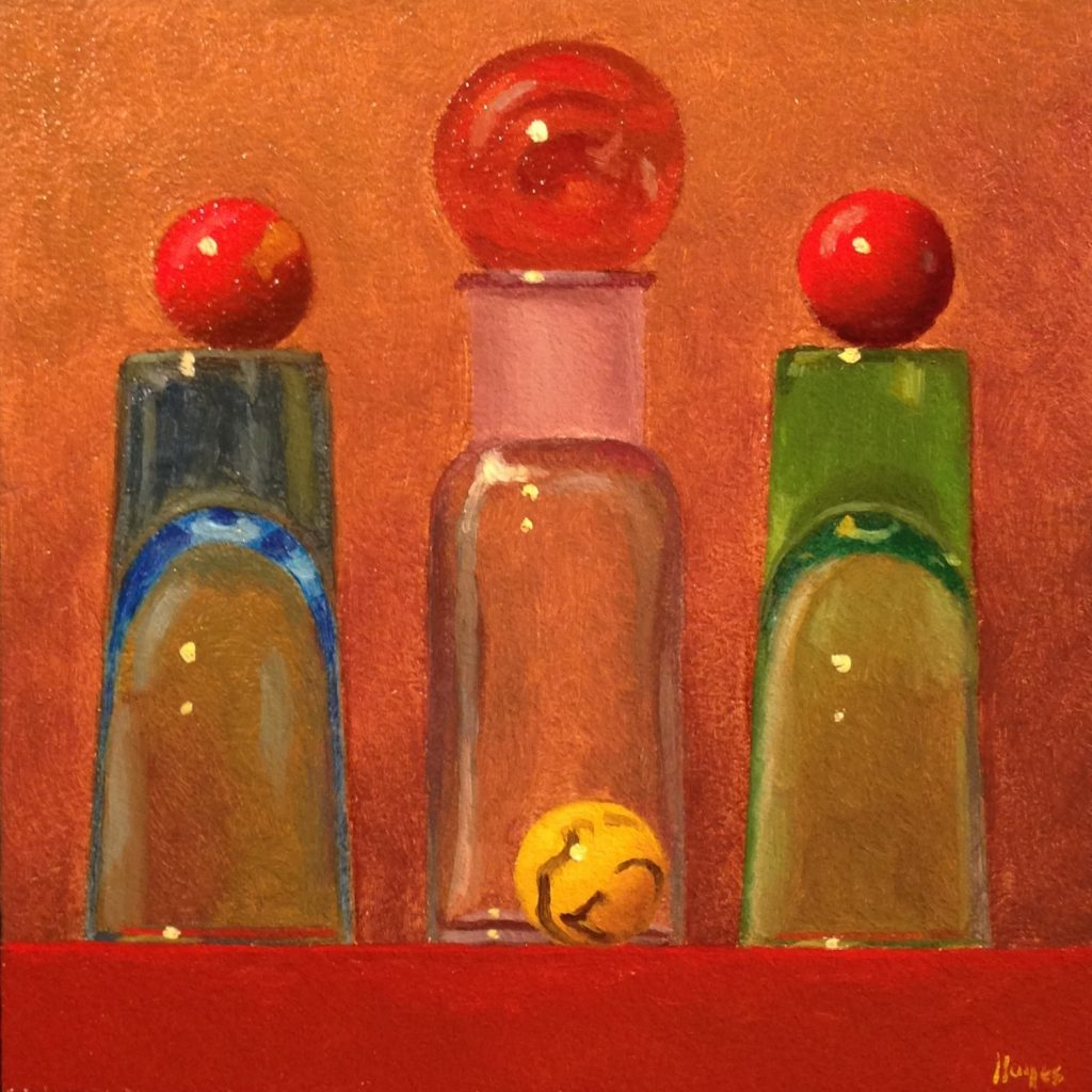 Jeffrey Hayes: Still Life Painting: Oil Painting: Fairy Tale: Greta and the Three Witches