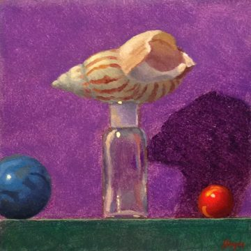 Jeffrey Hayes: Still Life Painting: Oil Painting: Fairy Tale: The Shell that Climbed a Tree