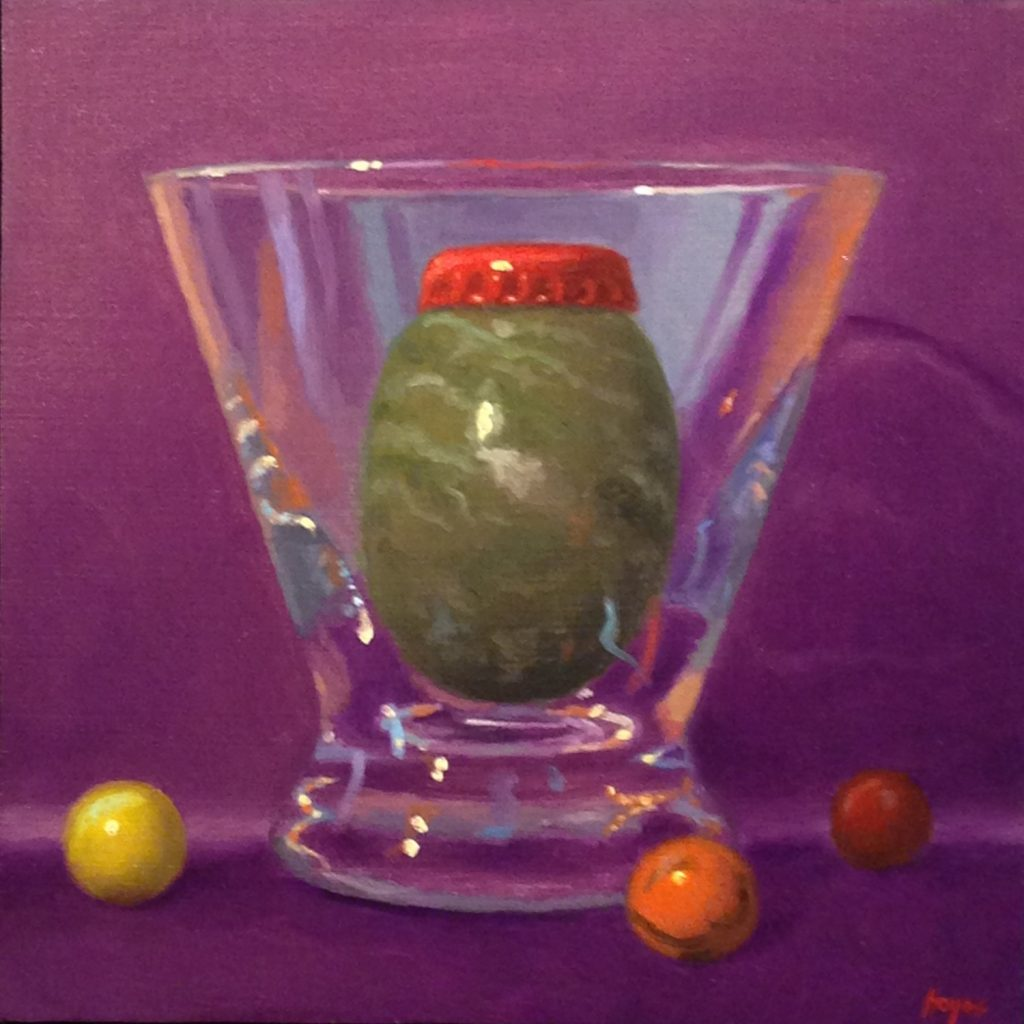 Jeffrey Hayes: Still Life Painting: Oil Painting: Fairy Tale: The King in his Glass Castle
