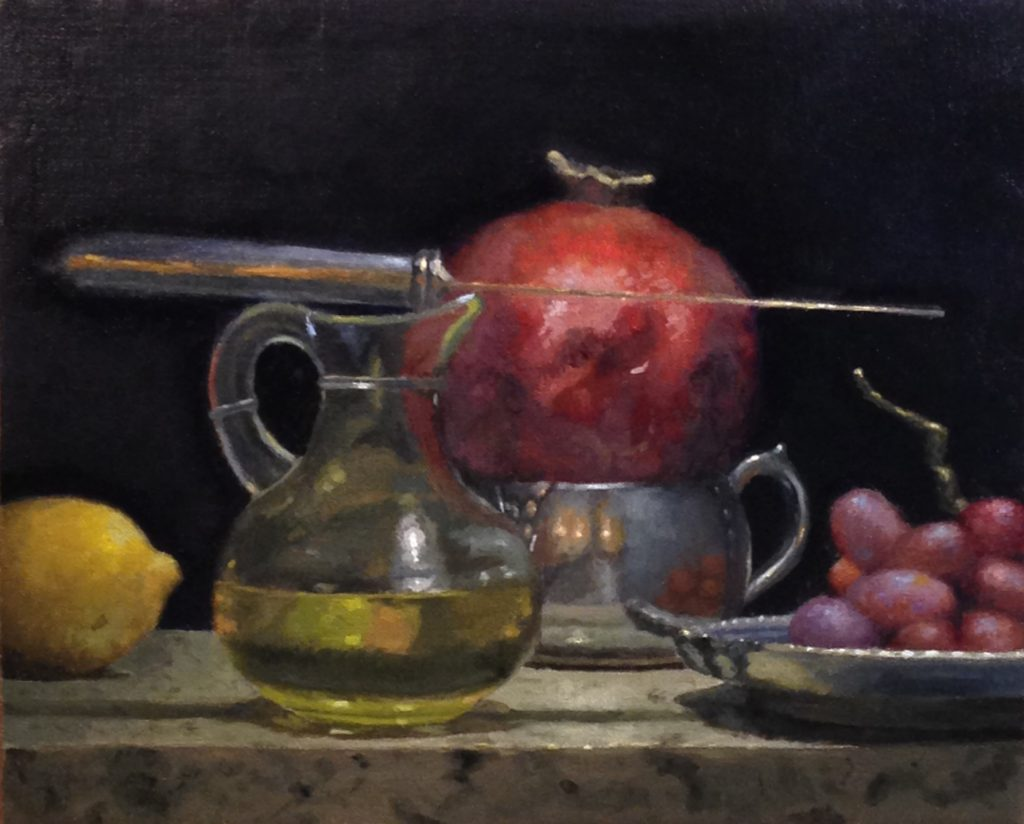 Jeffrey Hayes: Still Life Paintings: Oil Paintings: The Court of the Pomegranate King